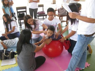 Angehende Physiotherapeuten