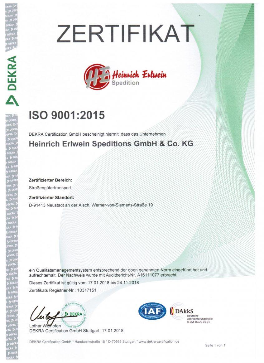 ISO Zertifikat bis 11.18.